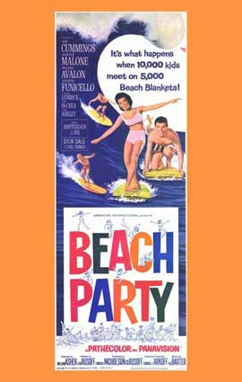 Beach Party - 11 x 17 Movie Poster - Style B