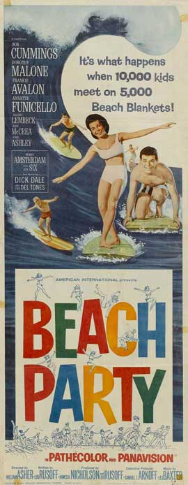 Beach Party - 14 x 36 Movie Poster - Insert Style A