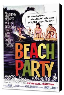 Beach Party - 27 x 40 Movie Poster - Style A - Museum Wrapped Canvas