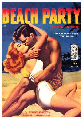 Beach Party - 11 x 17 Retro Book Cover Poster