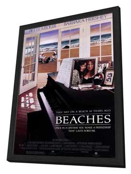 Beaches - 27 x 40 Movie Poster - Style A - in Deluxe Wood Frame