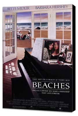 Beaches - 27 x 40 Movie Poster - Style A - Museum Wrapped Canvas