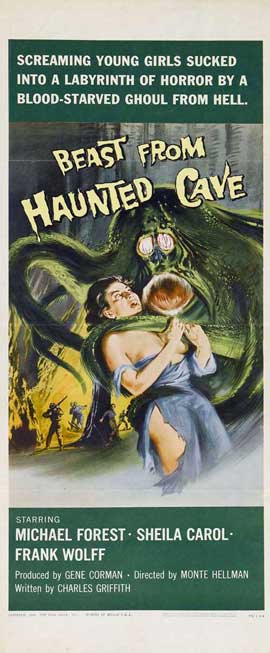 Beast from Haunted Cave - 14 x 36 Movie Poster - Insert Style A