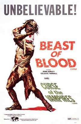 Beast of Blood/Curse of the Vampires - 11 x 17 Movie Poster - Style A