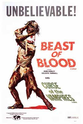 Beast of Blood/Curse of the Vampires - 27 x 40 Movie Poster - Style A