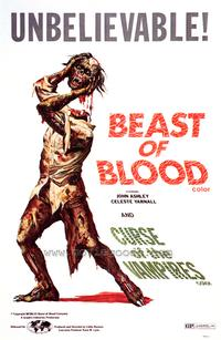 Beast of Blood/Curse of the Vampires - 43 x 62 Movie Poster - Bus Shelter Style A