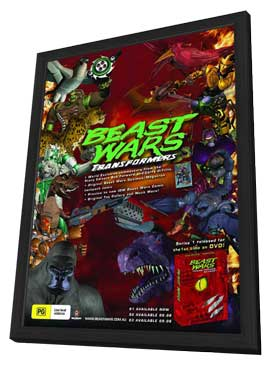 Beast Wars: Transformers - 11 x 17 Movie Poster - Australian Style A - in Deluxe Wood Frame