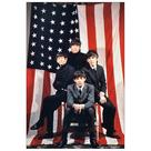 Beatles - The American Flag 1964 Tour Ad Large Canvas Print