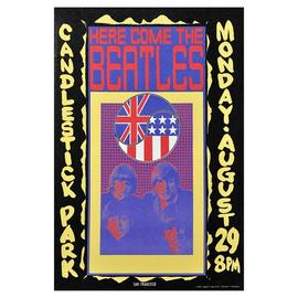 Beatles - The Candlestick Park 1966 Ad Large Canvas Print