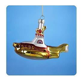 Beatles - Yellow Submarine 5-Inch Glass Ornament