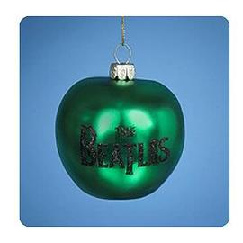Beatles - Lithograph Green Apple Glass Ornament