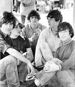 Beatles - Beatles Group Picture Seated and Relaxing Smoking Cigarette