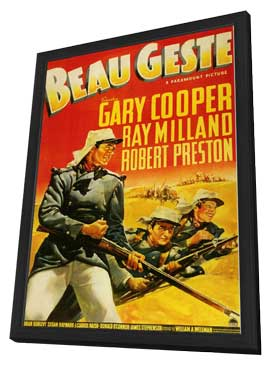 Beau Geste - 11 x 17 Movie Poster - Style B - in Deluxe Wood Frame