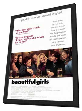 Beautiful Girls - 11 x 17 Movie Poster - Style A - in Deluxe Wood Frame