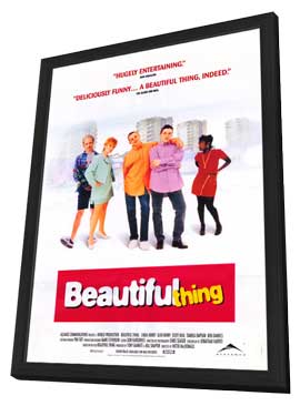 Beautiful Thing - 11 x 17 Movie Poster - Style B - in Deluxe Wood Frame