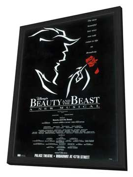 Beauty and The Beast (Broadway) - 27 x 40 Poster - Style A - in Deluxe Wood Frame