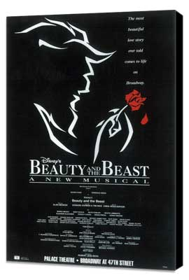 Beauty and The Beast (Broadway) - 14 x 22 Poster - Style A - Museum Wrapped Canvas
