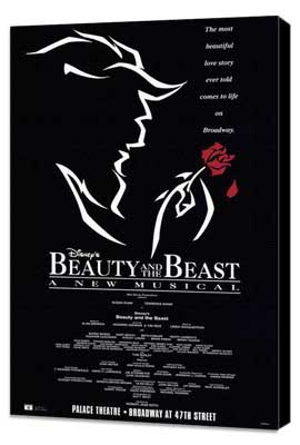 Beauty and The Beast (Broadway) - 27 x 40 Poster - Style A - Museum Wrapped Canvas