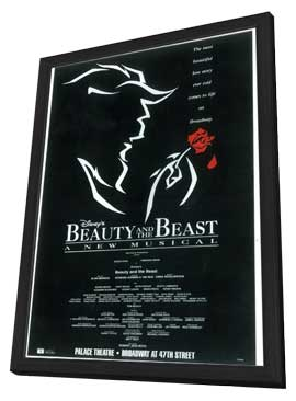 Beauty and The Beast (Broadway) - 11 x 17 Poster - Style A - in Deluxe Wood Frame