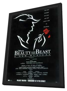 Beauty and The Beast (Broadway) - 14 x 22 Poster - Style A - in Deluxe Wood Frame