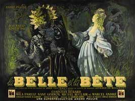 Beauty and the Beast - 30 x 40 Movie Poster - French Style A