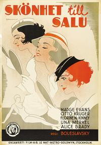 Beauty for Sale - 27 x 40 Movie Poster - Swedish Style A