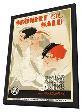 Beauty for Sale - 11 x 17 Movie Poster - Swedish Style A - in Deluxe Wood Frame