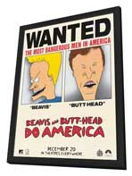 Beavis and Butt-Head Do America - 11 x 17 Movie Poster - Style C - in Deluxe Wood Frame