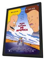 Beavis and Butt-Head Do America - 27 x 40 Movie Poster - Style A - in Deluxe Wood Frame