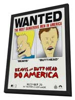 Beavis and Butt-Head Do America - 27 x 40 Movie Poster - Style B - in Deluxe Wood Frame
