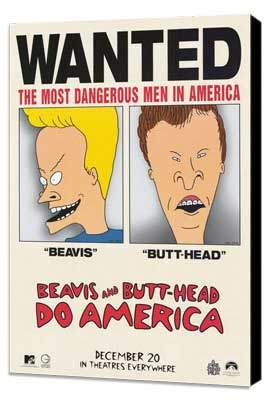 Beavis and Butt-Head Do America - 11 x 17 Movie Poster - Style C - Museum Wrapped Canvas