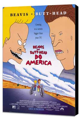 Beavis and Butt-Head Do America - 27 x 40 Movie Poster - Style A - Museum Wrapped Canvas