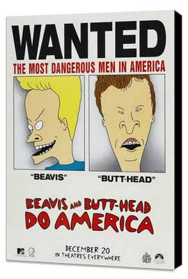 Beavis and Butt-Head Do America - 27 x 40 Movie Poster - Style B - Museum Wrapped Canvas