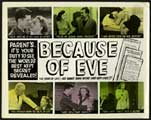 Because of Eve - 30 x 40 Movie Poster UK - Style A