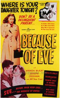 Because of Eve - 43 x 62 Movie Poster - Bus Shelter Style A