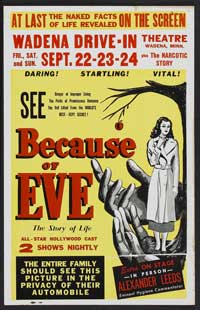 Because of Eve - 27 x 40 Movie Poster - Style B
