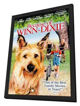 Because of Winn Dixie - 11 x 17 Movie Poster - Style D - in Deluxe Wood Frame