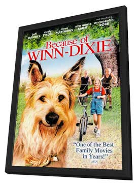 Because of Winn Dixie - 27 x 40 Movie Poster - Style D - in Deluxe Wood Frame