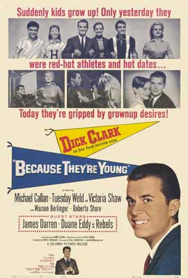 Because They're Young - 27 x 40 Movie Poster - Style A