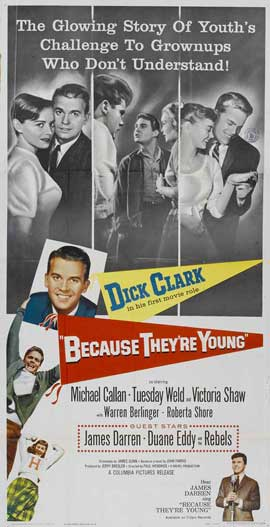 Because They're Young - 20 x 40 Movie Poster - Style A