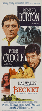 Becket - 14 x 36 Movie Poster - Insert Style B