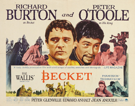 Becket - 22 x 28 Movie Poster - Half Sheet Style A
