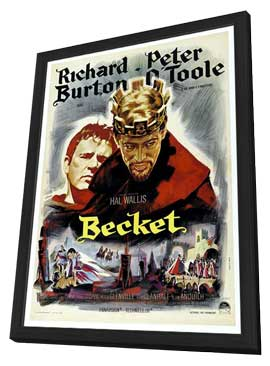 Becket - 11 x 17 Movie Poster - French Style A - in Deluxe Wood Frame