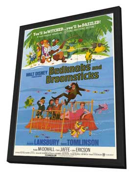 Bedknobs and Broomsticks - 11 x 17 Movie Poster - Style A - in Deluxe Wood Frame