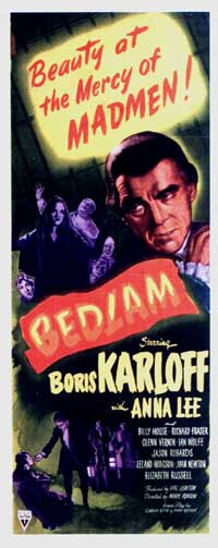 Bedlam - 14 x 36 Movie Poster - Insert Style A