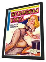Bedroom Eyes - 11 x 17 Retro Book Cover Poster - in Deluxe Wood Frame