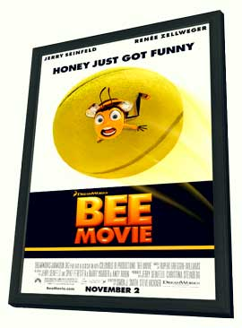Bee Movie - 11 x 17 Movie Poster - Style C - in Deluxe Wood Frame