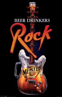 Beer Drinkers Rock - Party/College Poster - 22 x 34 - Style A