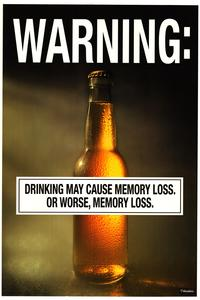 Beer Drinking - Party/College Poster - 22 x 34 - Style A
