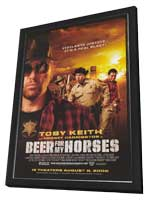Beer for My Horses - 11 x 17 Movie Poster - Style A - in Deluxe Wood Frame